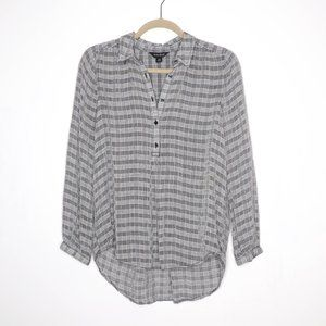 Lucky Brand | Plaid Hi-Lo Popover Blouse XS